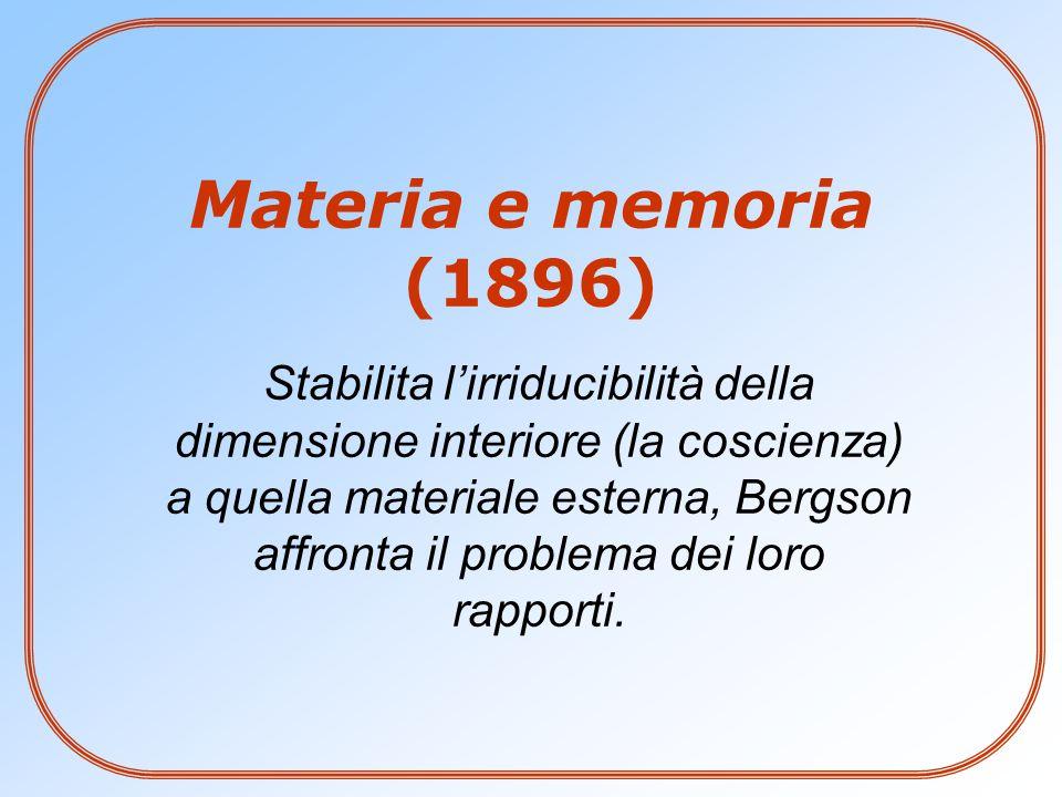 Materia e memoria (1896)