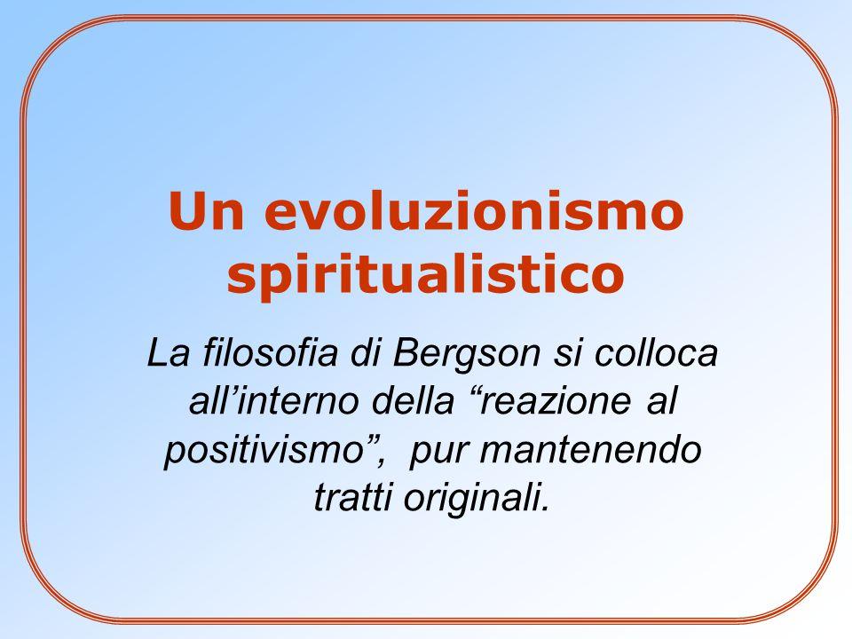 Un evoluzionismo spiritualistico