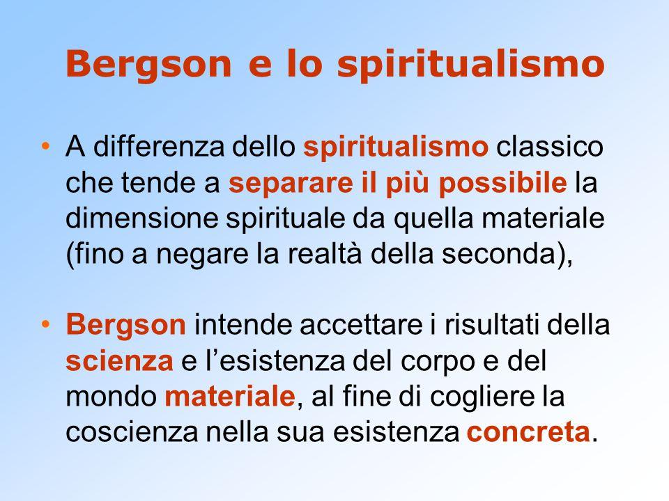 Bergson e lo spiritualismo