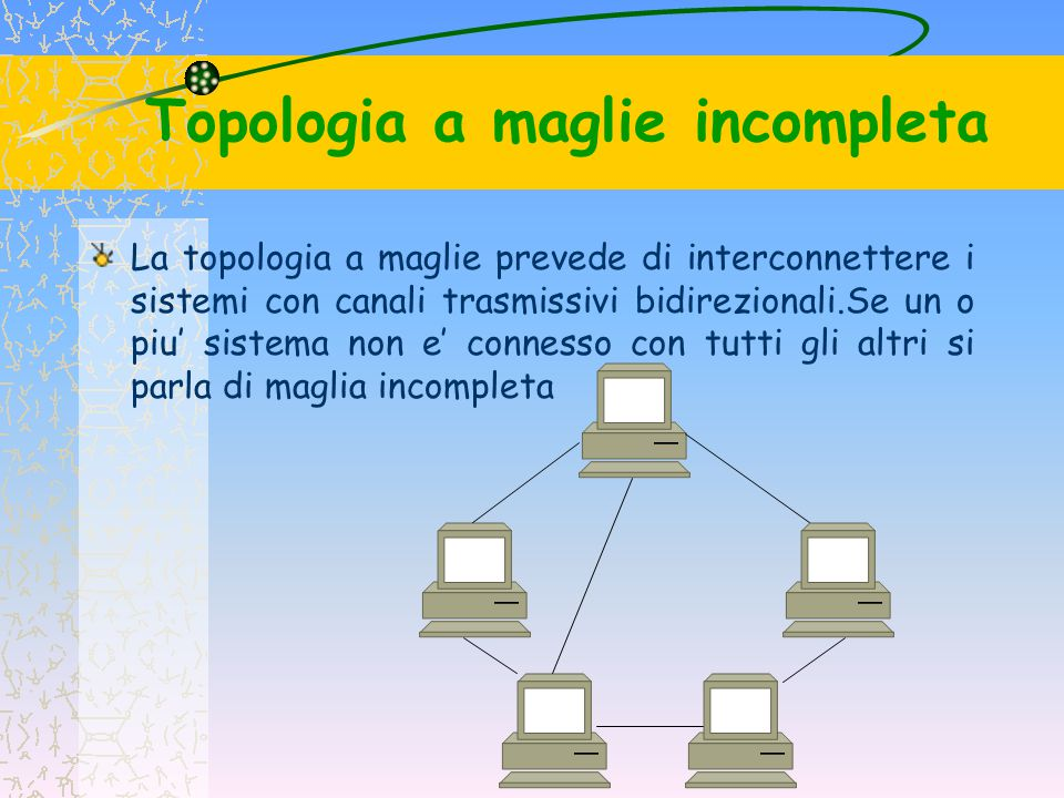 Topologia a maglie incompleta