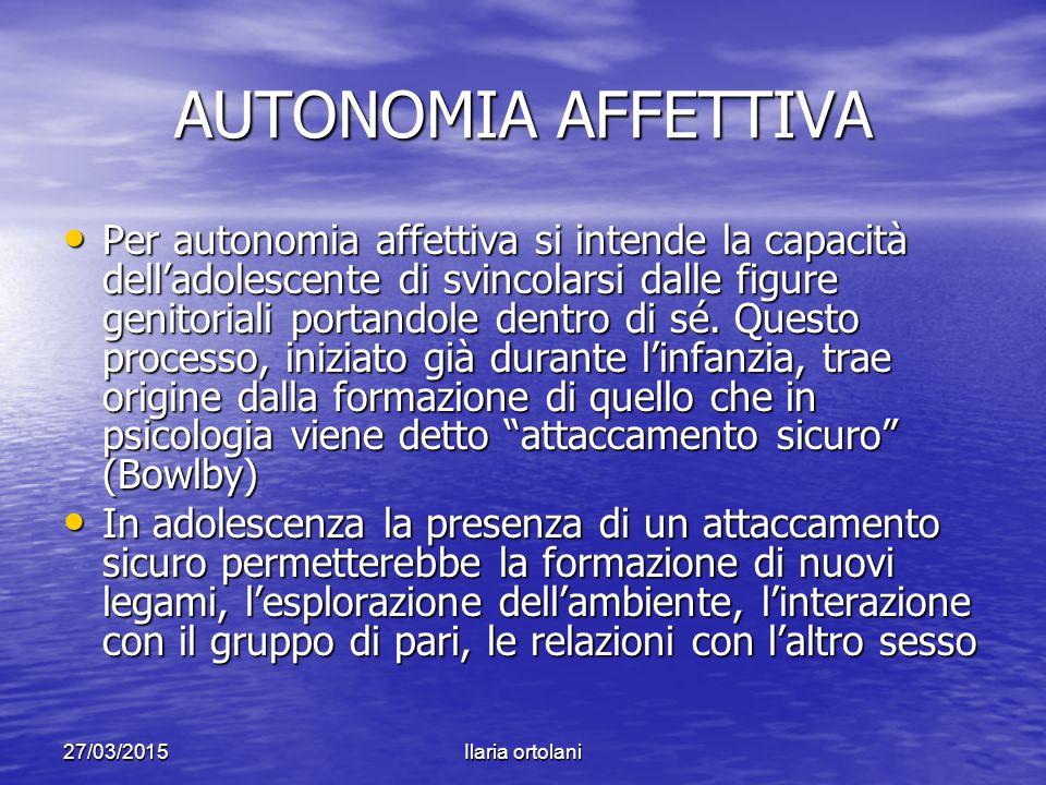 AUTONOMIA AFFETTIVA