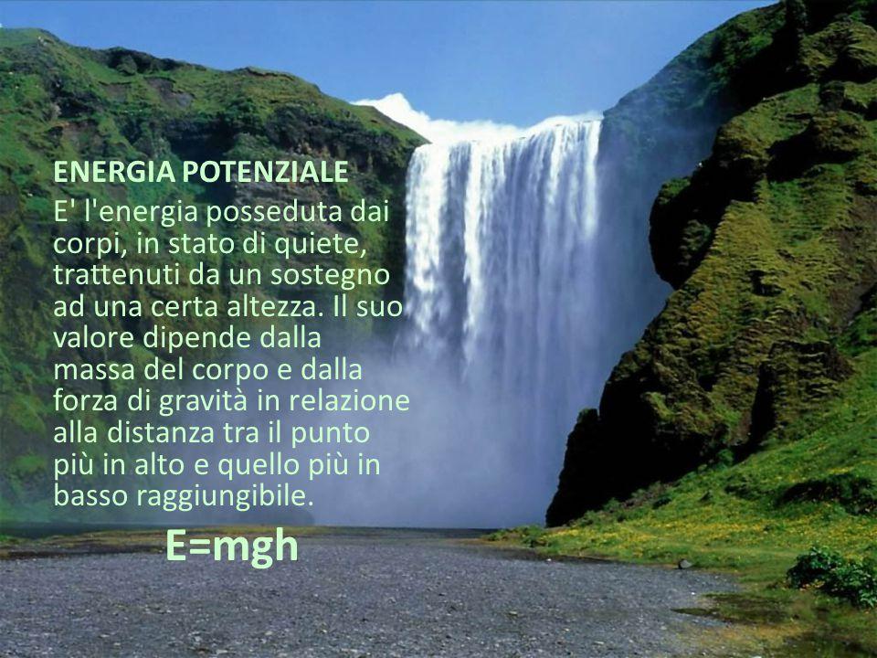 E=mgh ENERGIA POTENZIALE
