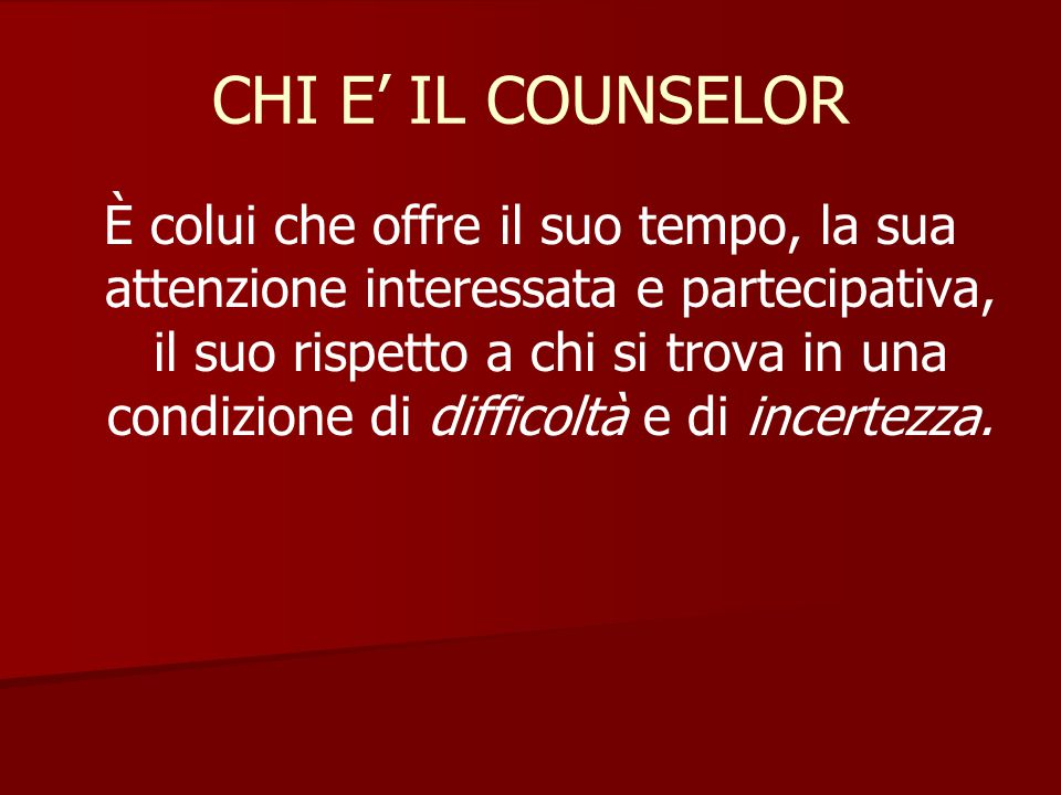 CHI E' IL COUNSELOR