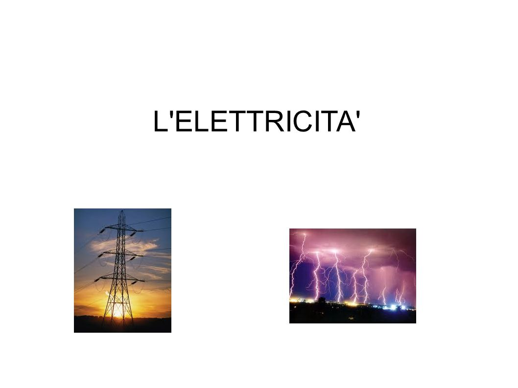 L ELETTRICITA