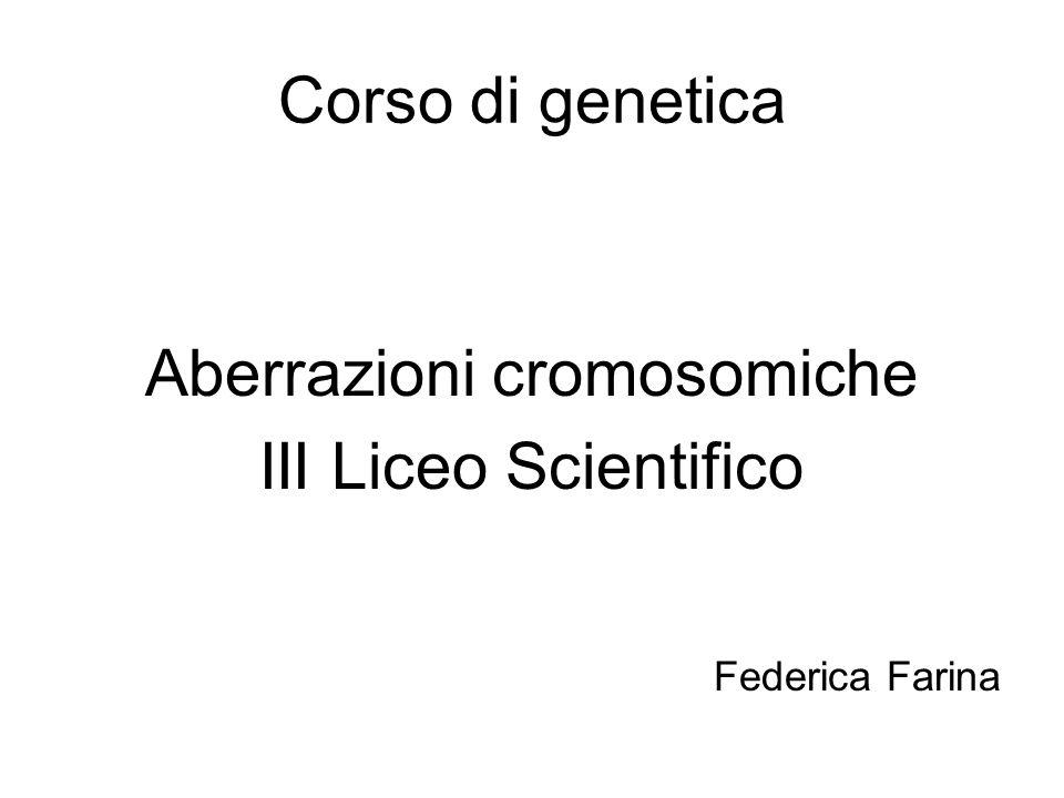Aberrazioni cromosomiche