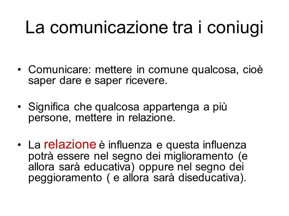 La comunicazione tra i coniugi