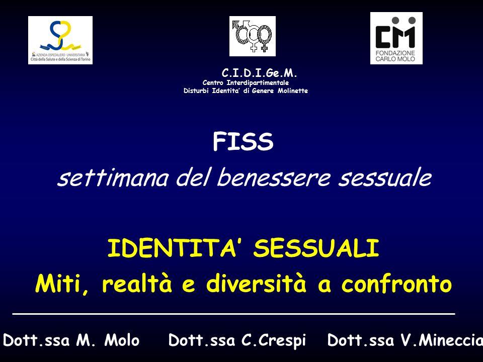 FISS IDENTITA' SESSUALI Miti, realtà e diversità a confronto