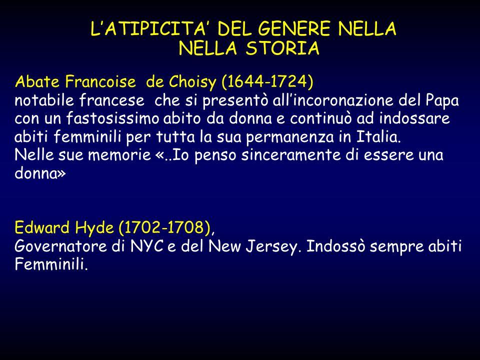 L'ATIPICITA' DEL GENERE NELLA