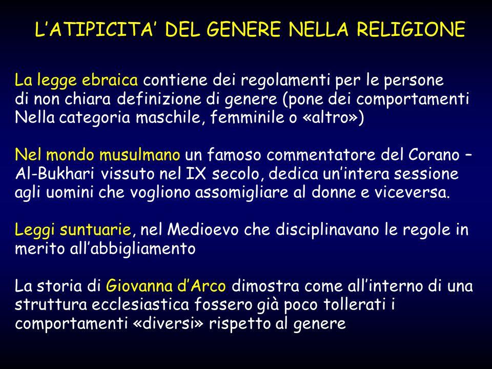 L'ATIPICITA' DEL GENERE NELLA RELIGIONE