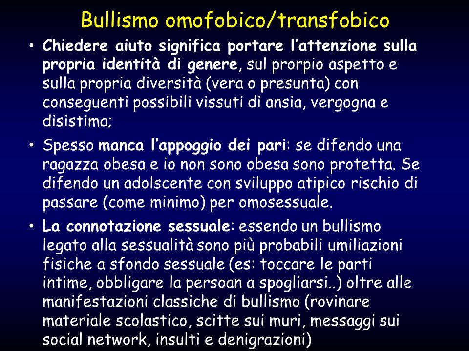 Bullismo omofobico/transfobico