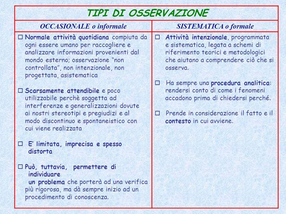 OCCASIONALE o informale
