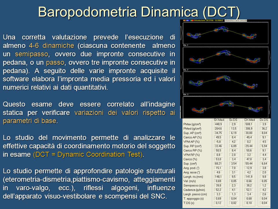 Baropodometria Dinamica (DCT)