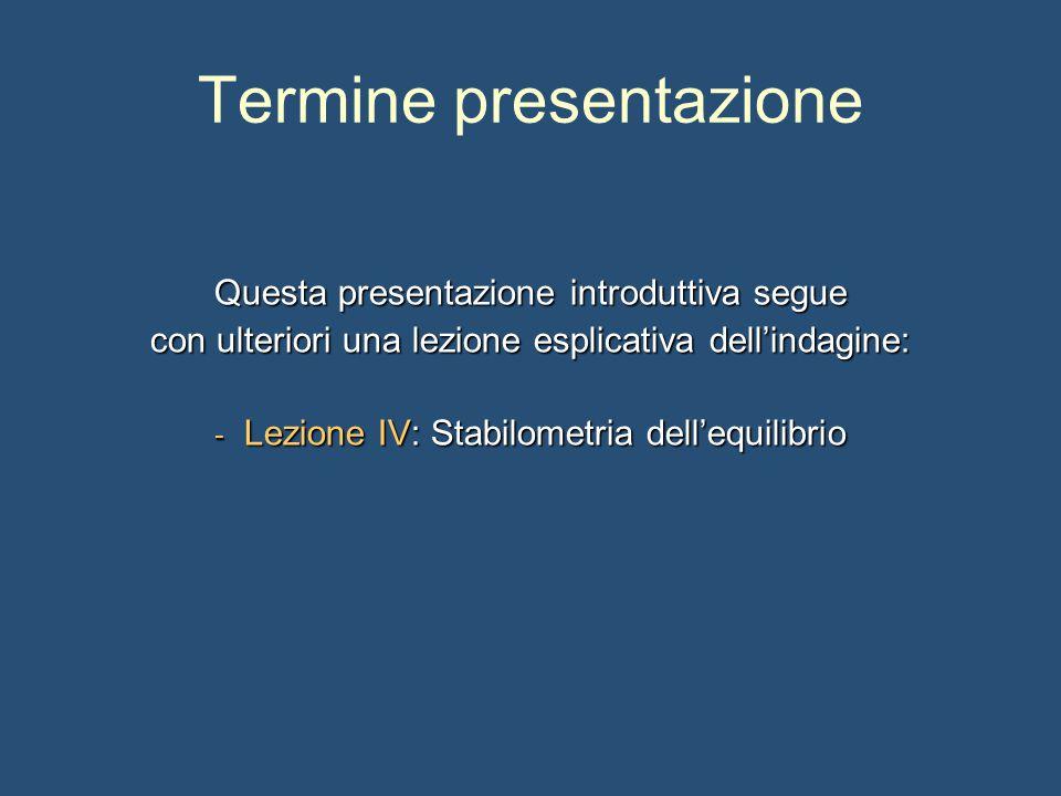 Termine presentazione