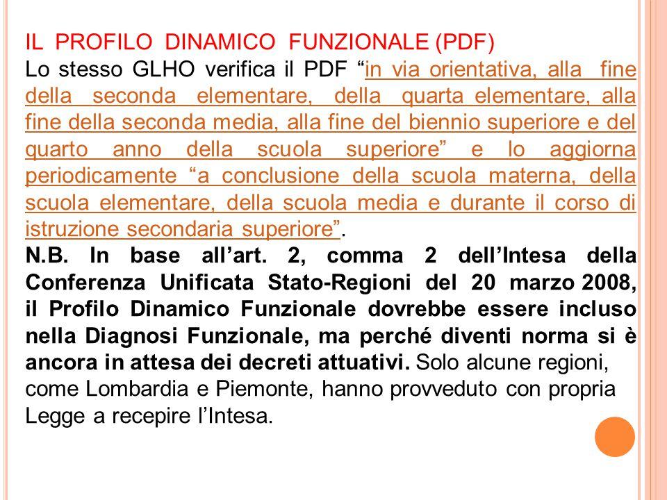 IL PROFILO DINAMICO FUNZIONALE (PDF)