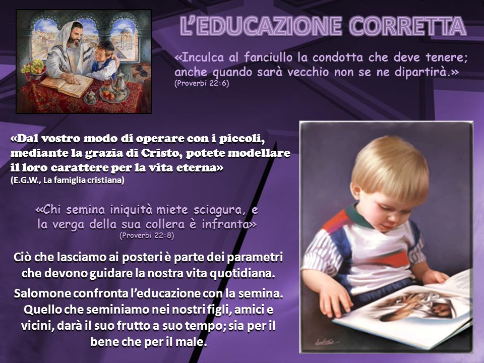 L'EDUCAZIONE CORRETTA