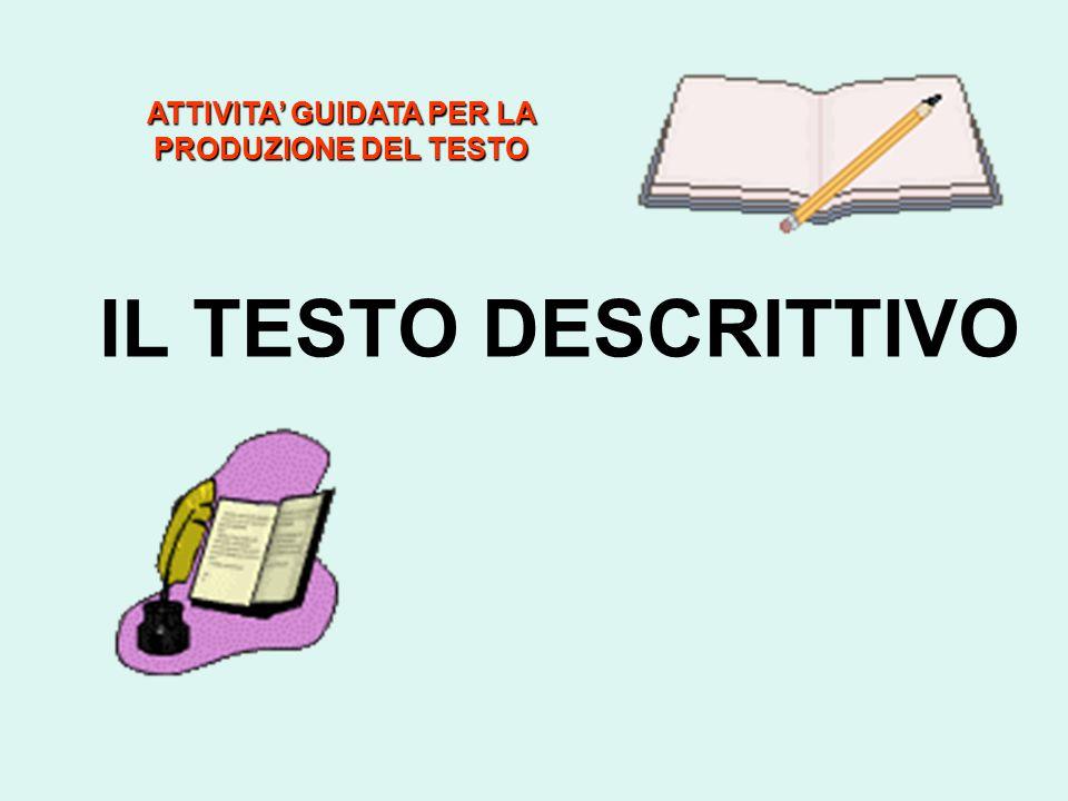 ATTIVITA' GUIDATA PER LA PRODUZIONE DEL TESTO