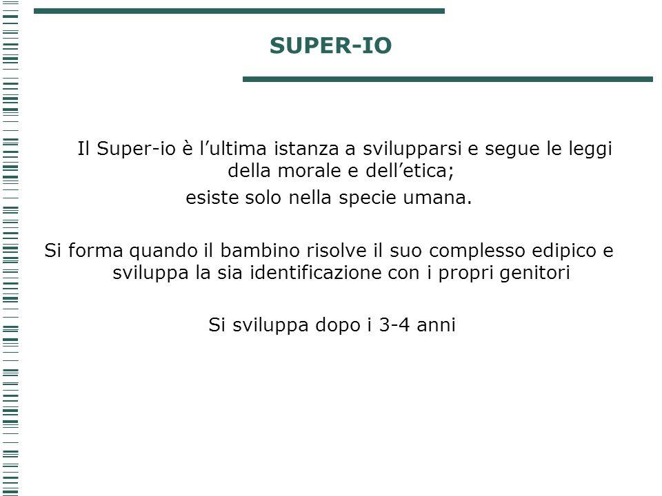 SUPER-IO esiste solo nella specie umana.