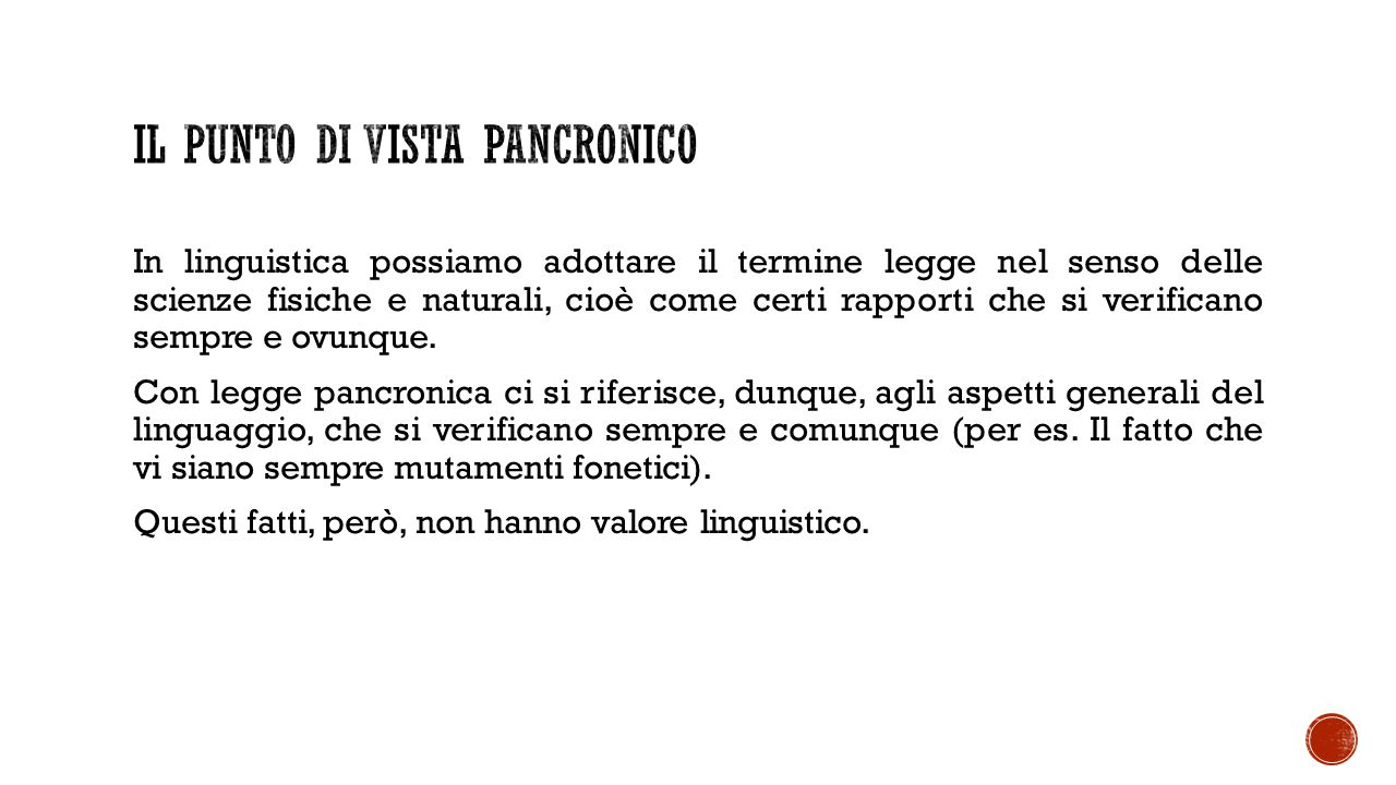 Il punto di vista pancronico