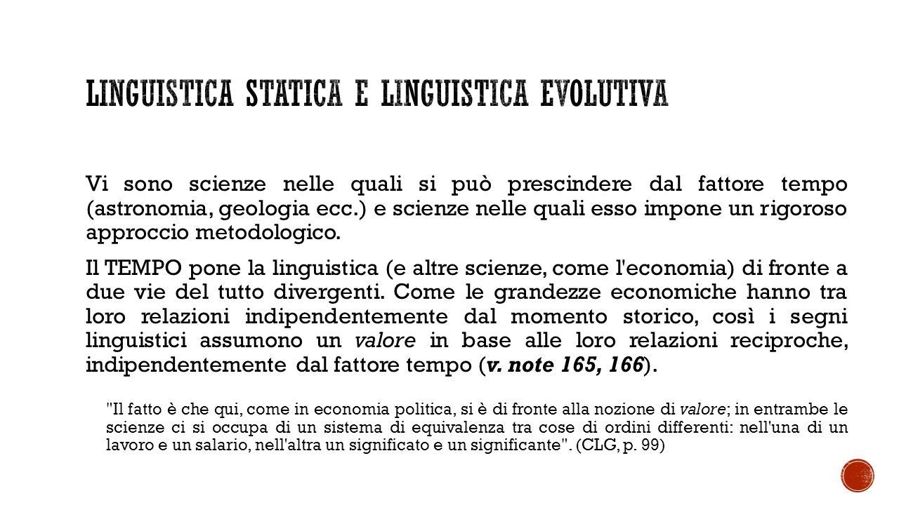 Linguistica statica e linguistica evolutiva