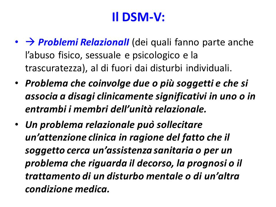 Il DSM-V:
