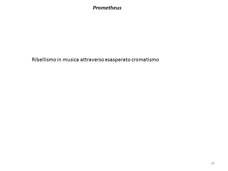Prometheus Ribellismo in musica attraverso esasperato cromatismo