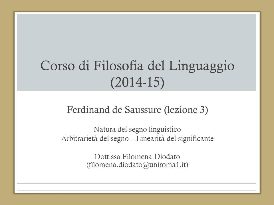 Corso di Filosofia del Linguaggio (2014-15)