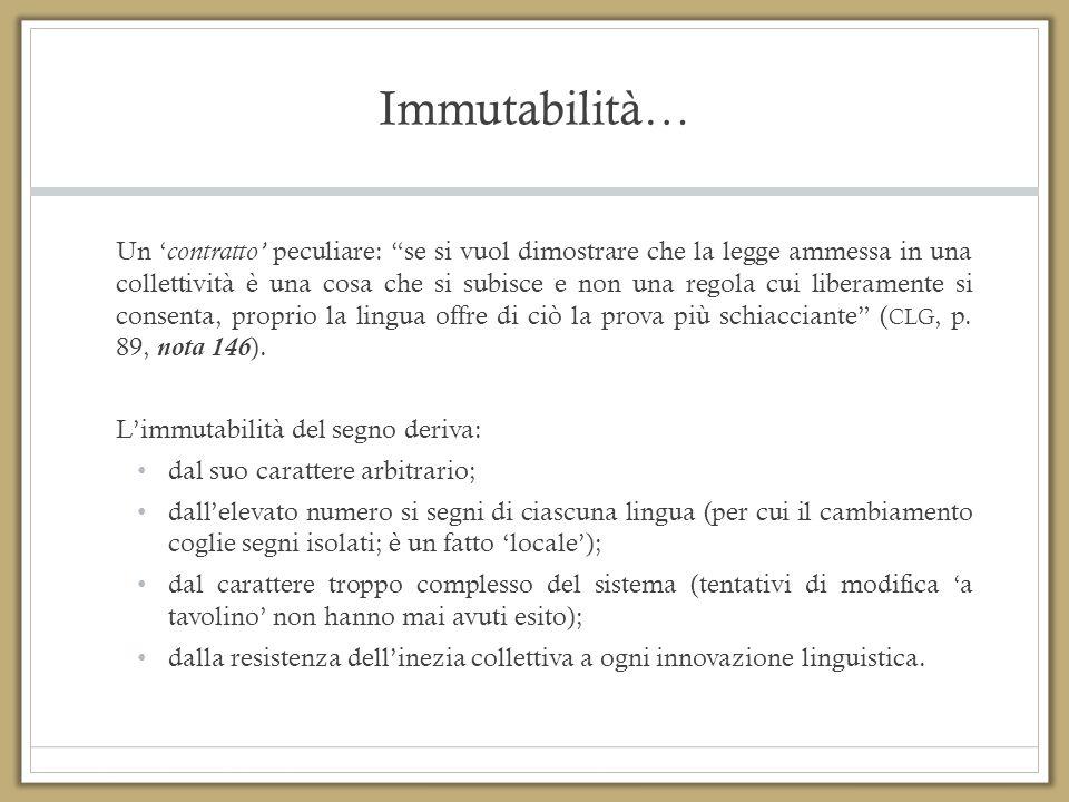 Immutabilità…