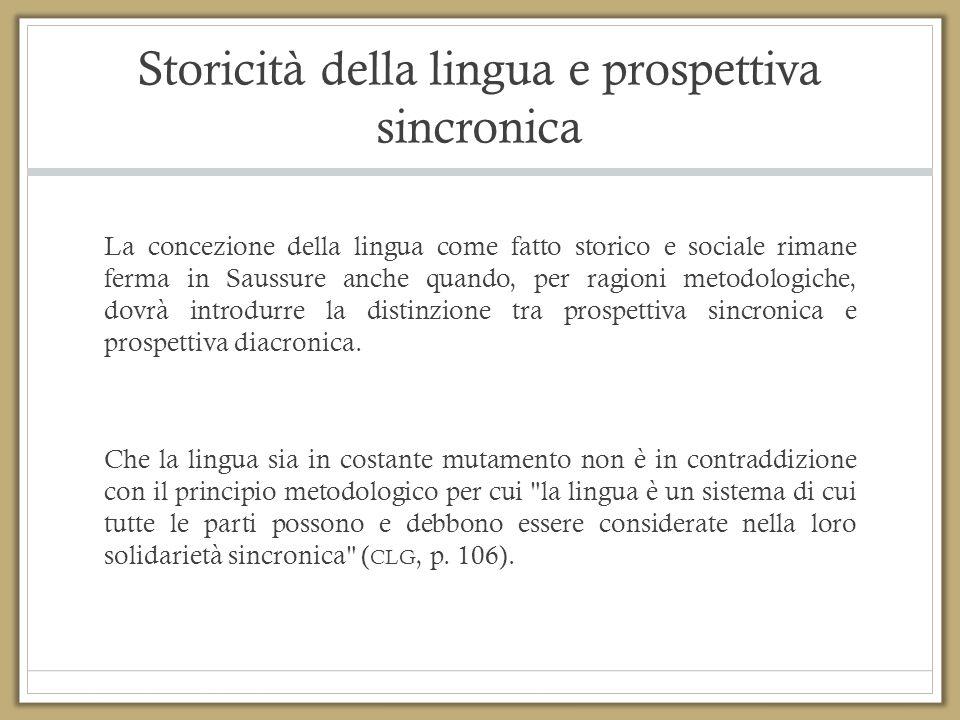 Storicità della lingua e prospettiva sincronica