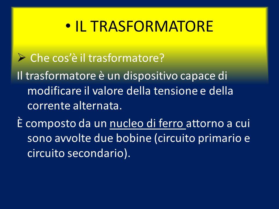 IL TRASFORMATORE Che cos'è il trasformatore