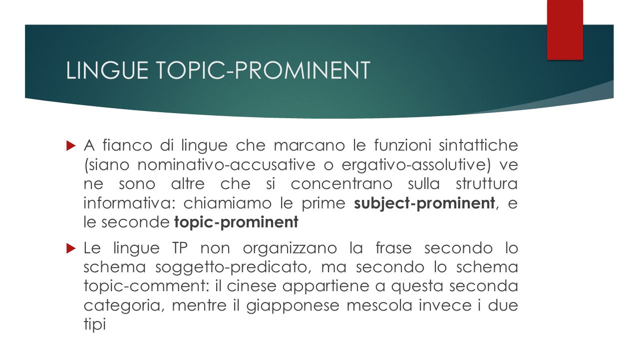 LINGUE TOPIC-PROMINENT