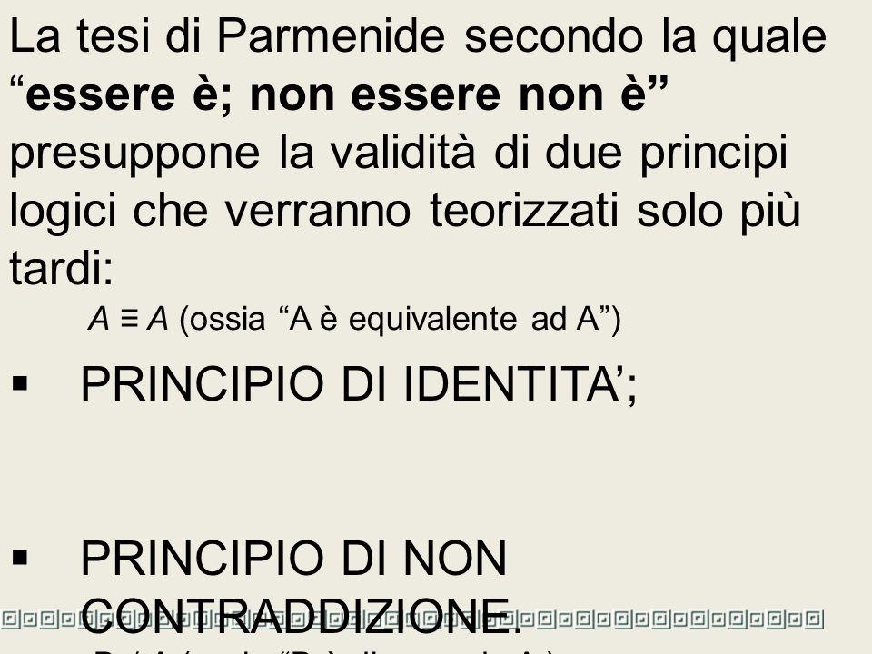PRINCIPIO DI IDENTITA';