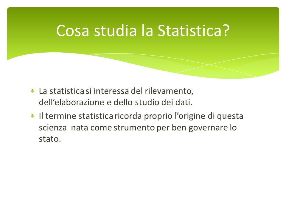 Cosa studia la Statistica