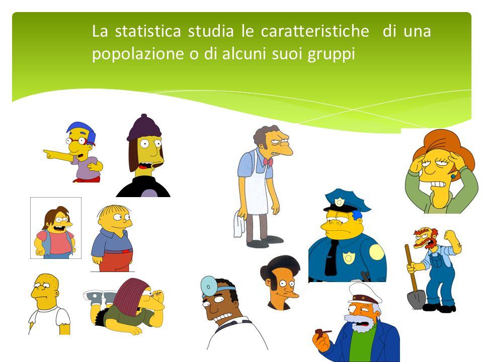 La statistica studia le caratteristiche di una popolazione o di alcuni suoi gruppi
