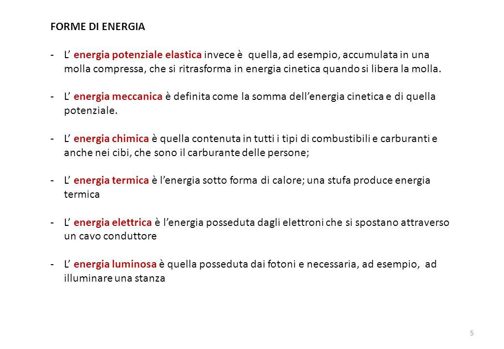 FORME DI ENERGIA