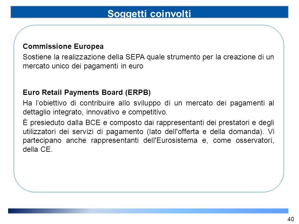 Soggetti coinvolti (SSP) Commissione Europea