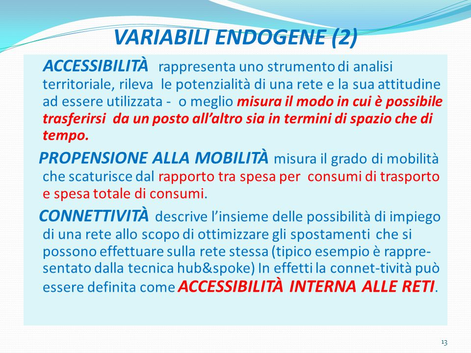 VARIABILI ENDOGENE (2)
