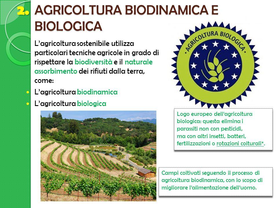AGRICOLTURA BIODINAMICA E BIOLOGICA
