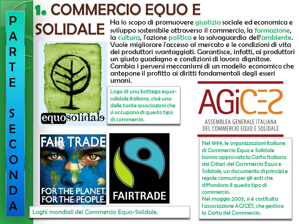 1. COMMERCIO EQUO E SOLIDALE