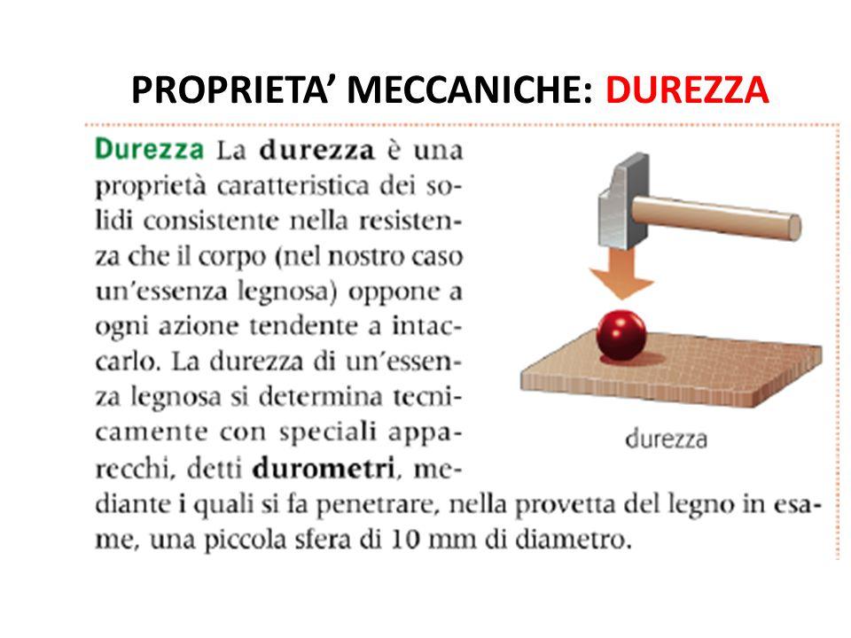 PROPRIETA' MECCANICHE: DUREZZA