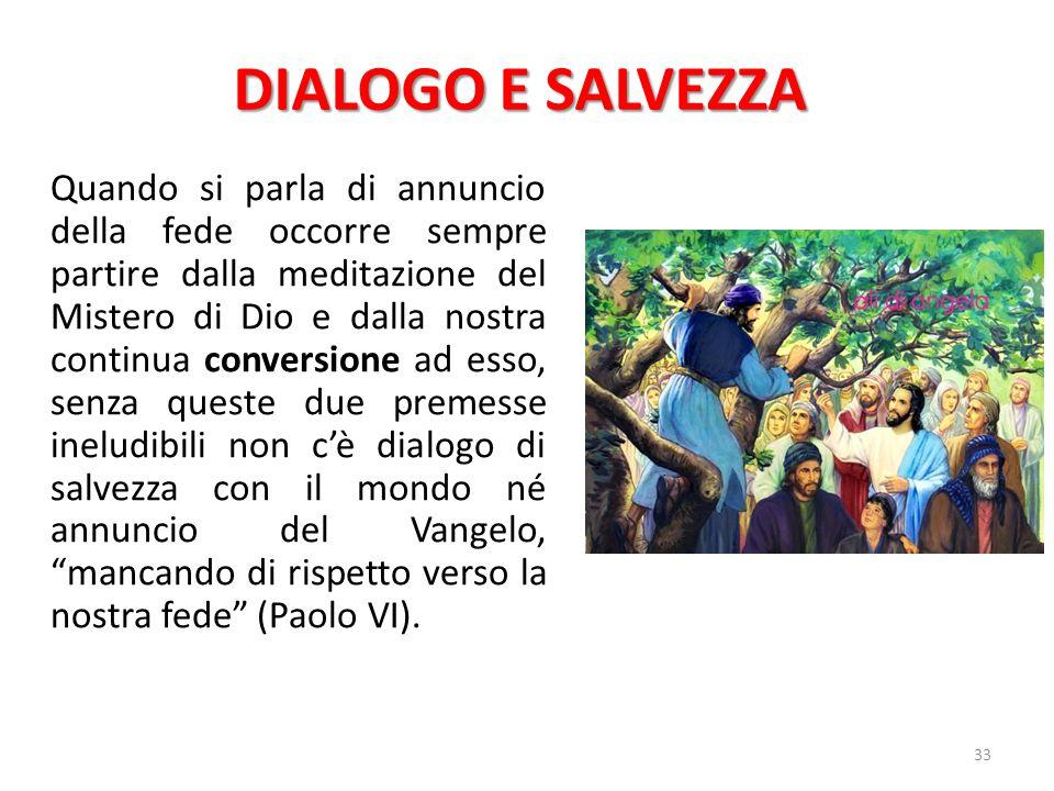 DIALOGO E SALVEZZA
