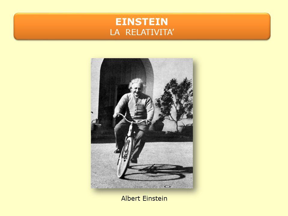 EINSTEIN LA RELATIVITA' Albert Einstein