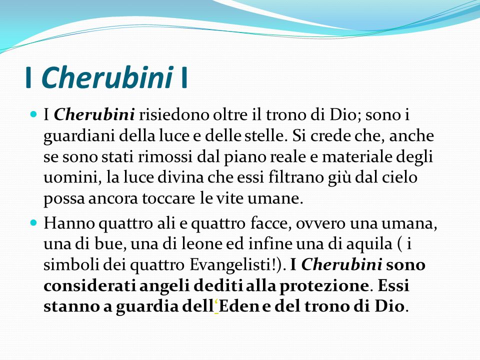I Cherubini I
