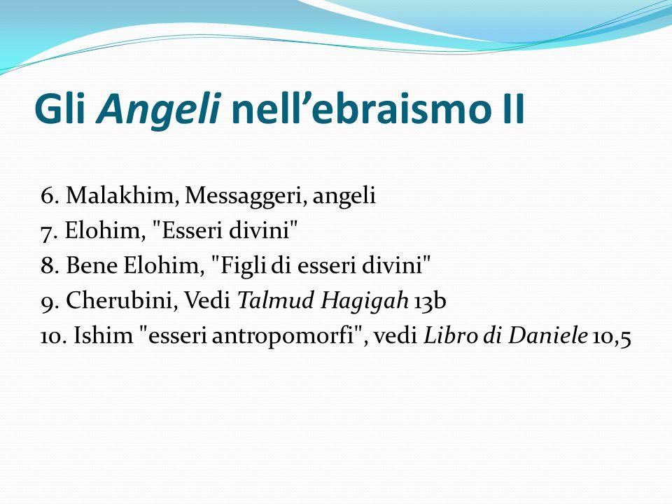 Gli Angeli nell'ebraismo II