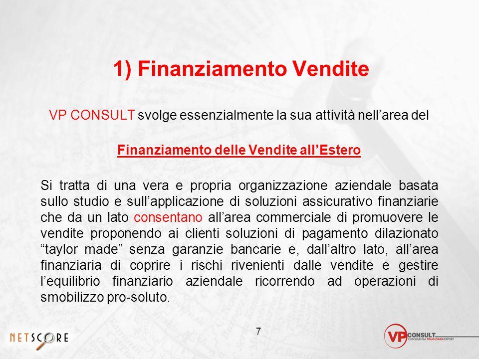 1) Finanziamento Vendite