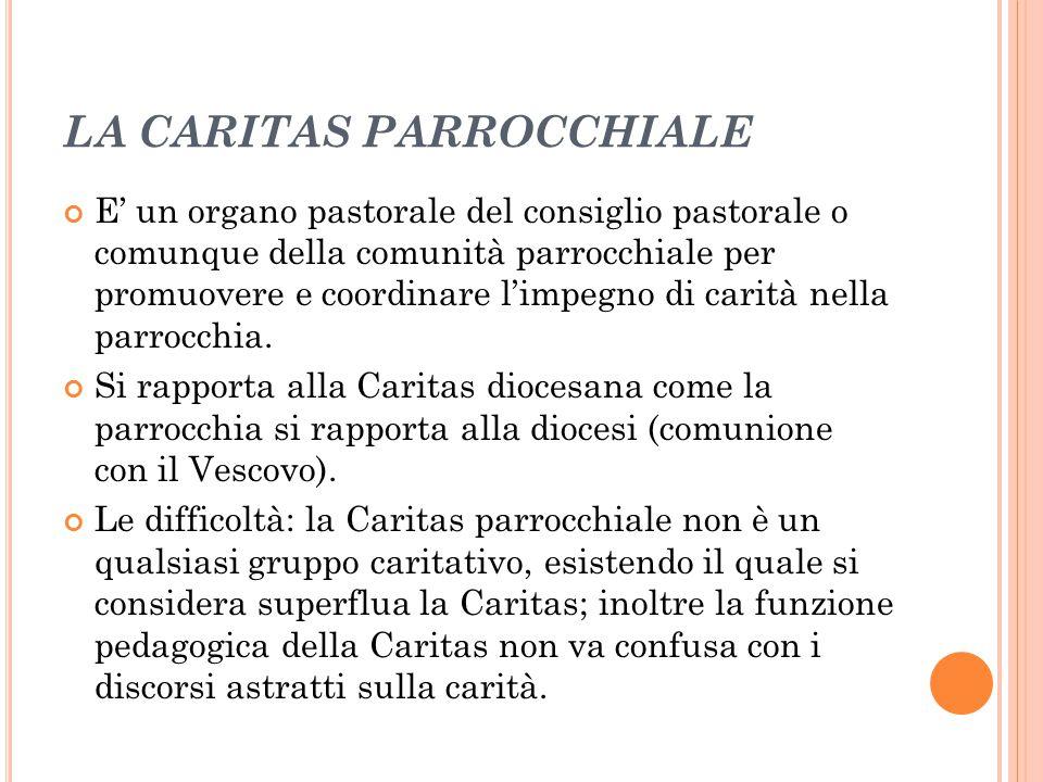 LA CARITAS PARROCCHIALE