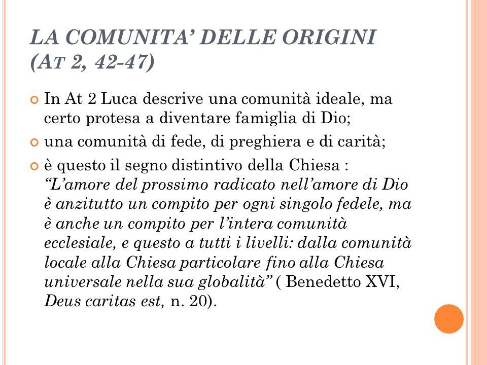 LA COMUNITA' DELLE ORIGINI (At 2, 42-47)