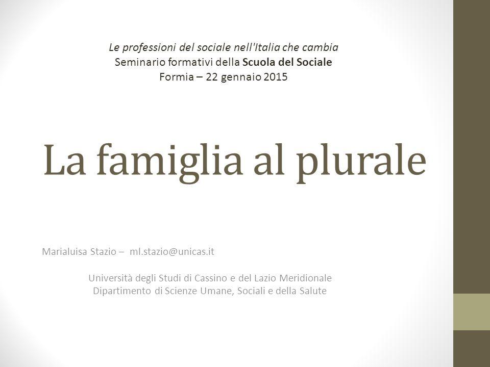 Le professioni del sociale nell Italia che cambia