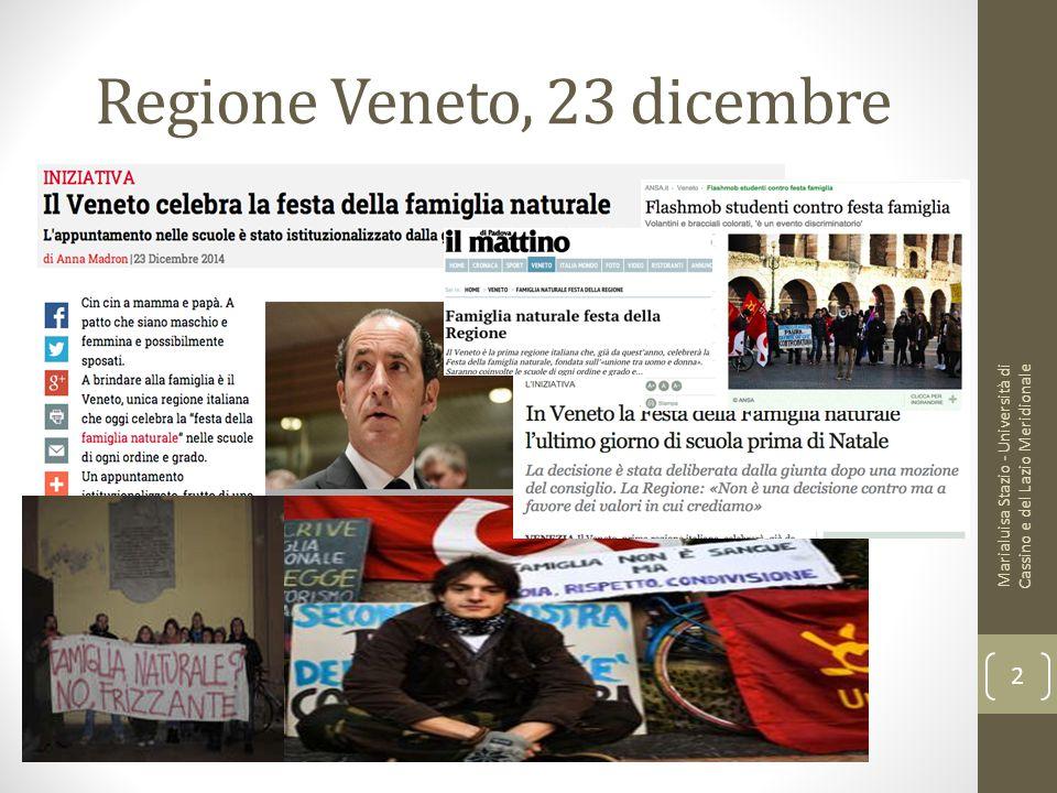 Regione Veneto, 23 dicembre