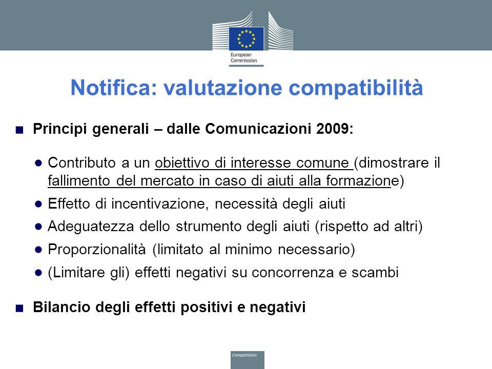 Notifica: valutazione compatibilità