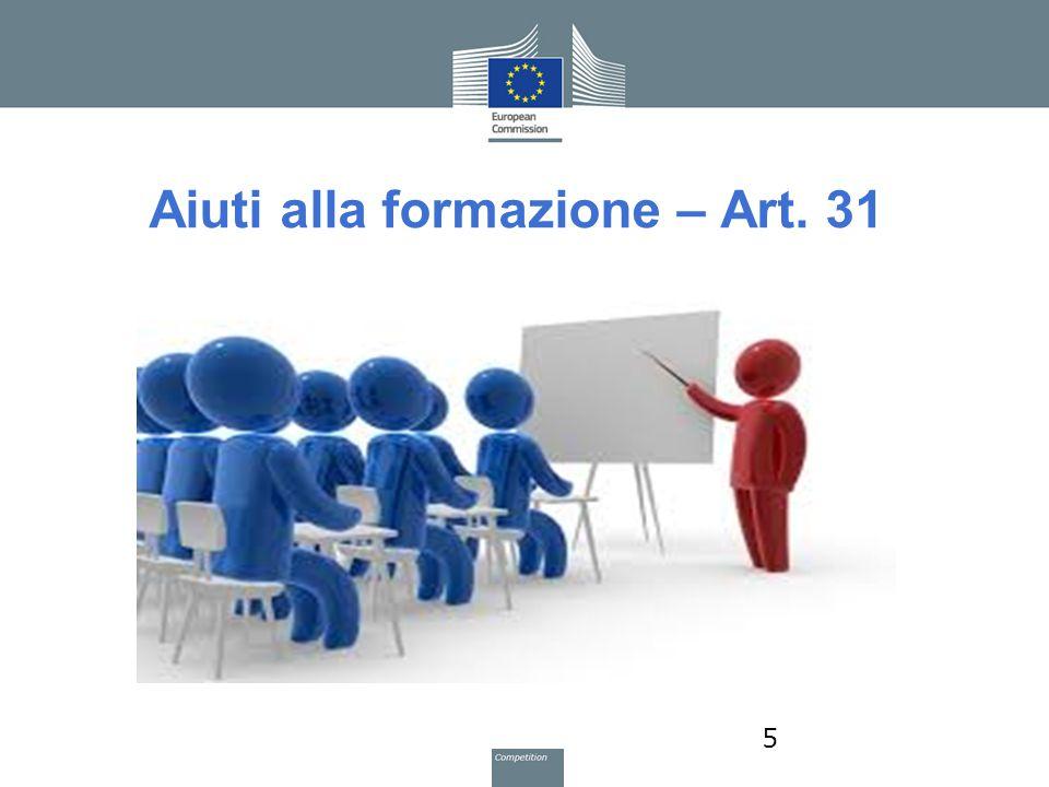 Aiuti alla formazione – Art. 31